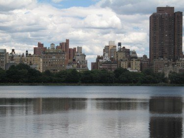 Manhattan skyline on closeup