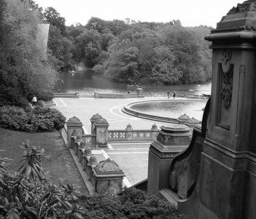 Haunting view of the fountain