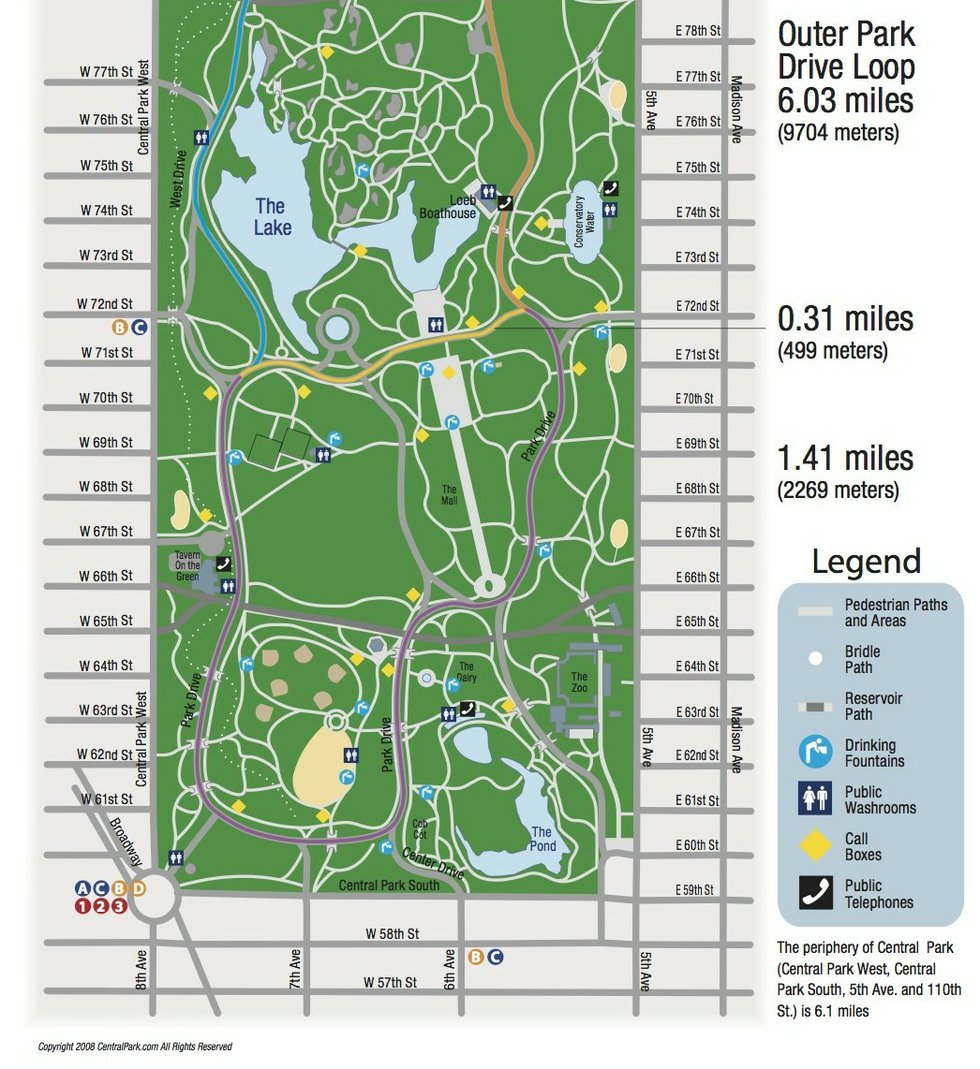 Get Directions to Central Park, Maps and Parking Information