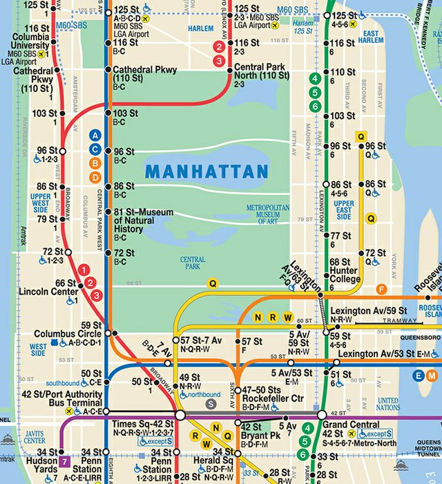 Subway Map Nyc Red Line.Get Directions To Central Park