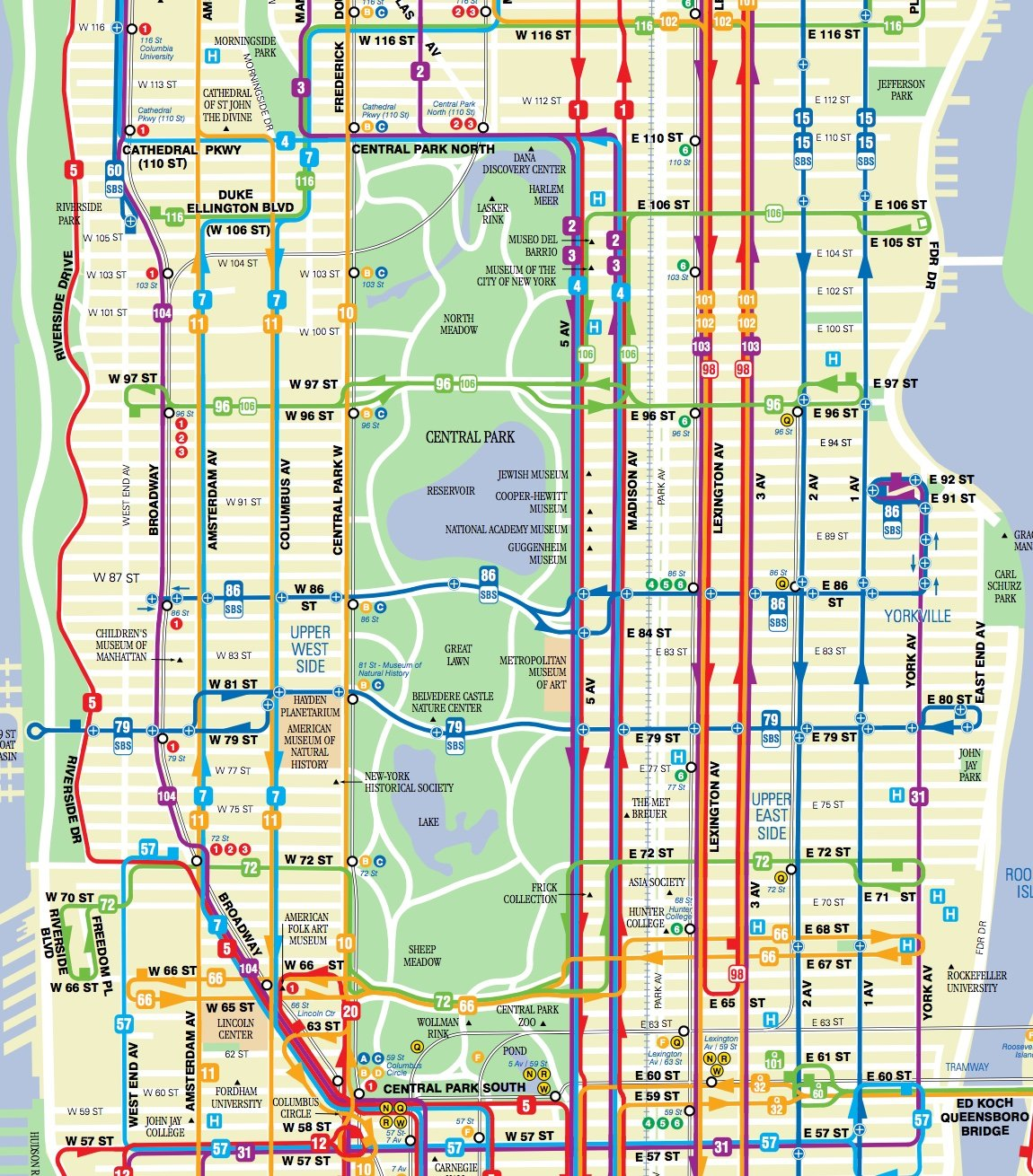 Nyc Subway Map Q Line.Get Directions To Central Park