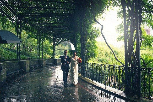 Rainy Day Fall Wedding At Wisteria Pergola
