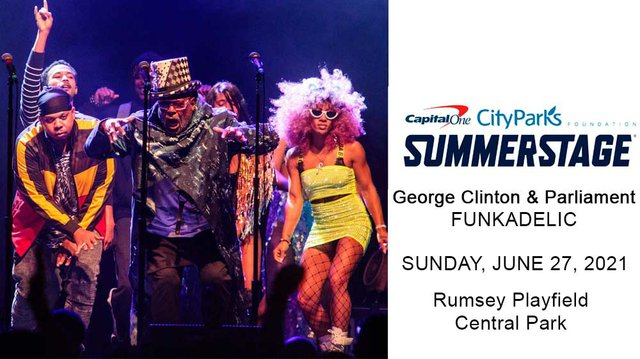 george Clinton and Parlament Funkadelic - SummerStage