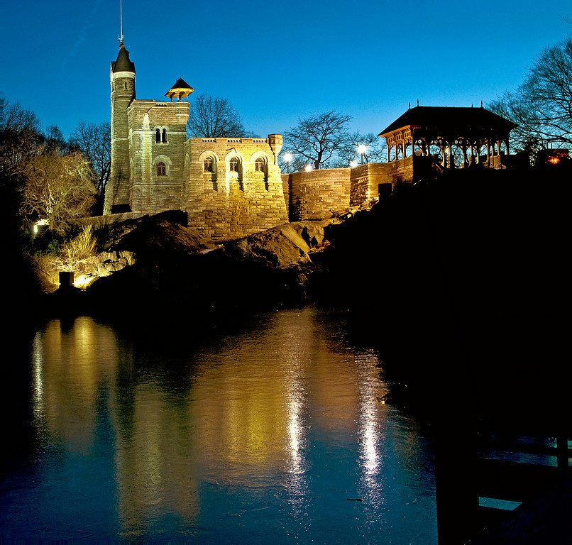 Belvedere Castle at Night