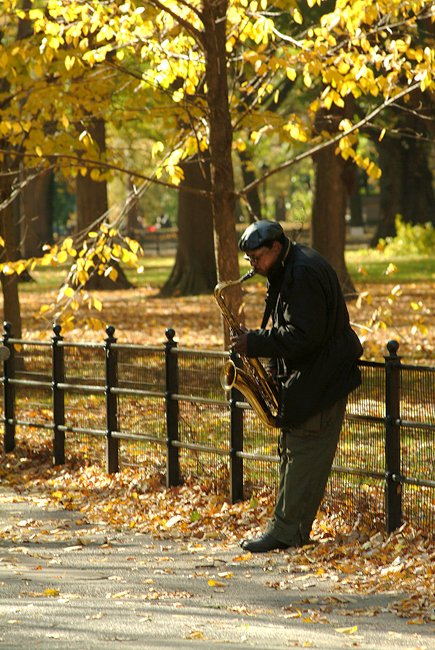 Autum Sax Player
